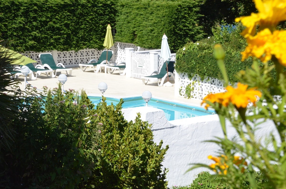 Beautifully Enclosed Outdoor Pool, Luccombe Hall Hotel, Isle of Wight