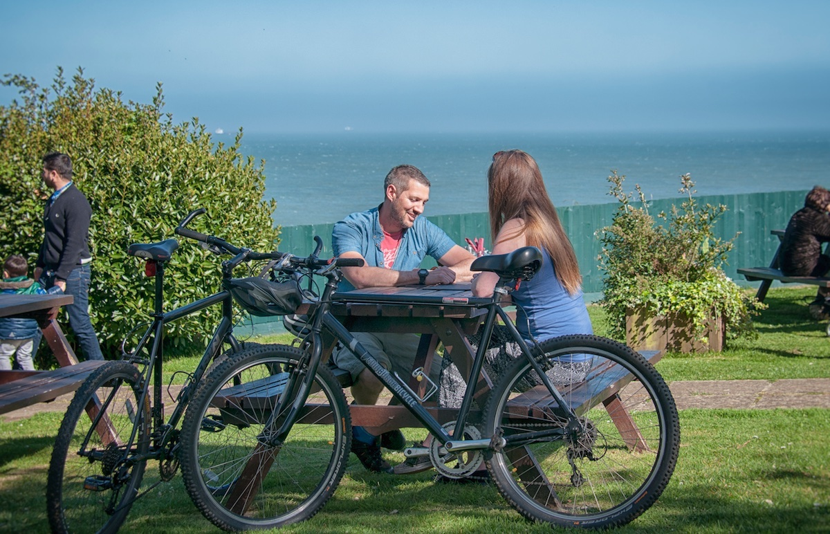Cycling on the Isle of Wight at Luccombe hall Hotel