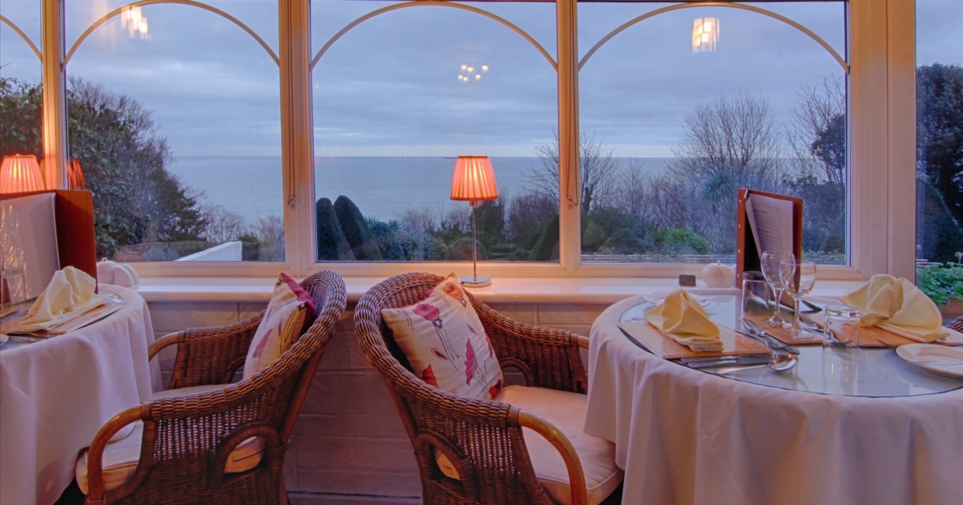 Delicious Meals in the Grand View Restaurant, Luccombe Hall Hotel, Isle of Wight