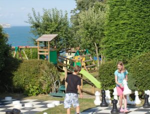 Family Fun Outdoor Chess at Luccombe Hall Hotel, Isle of Wight