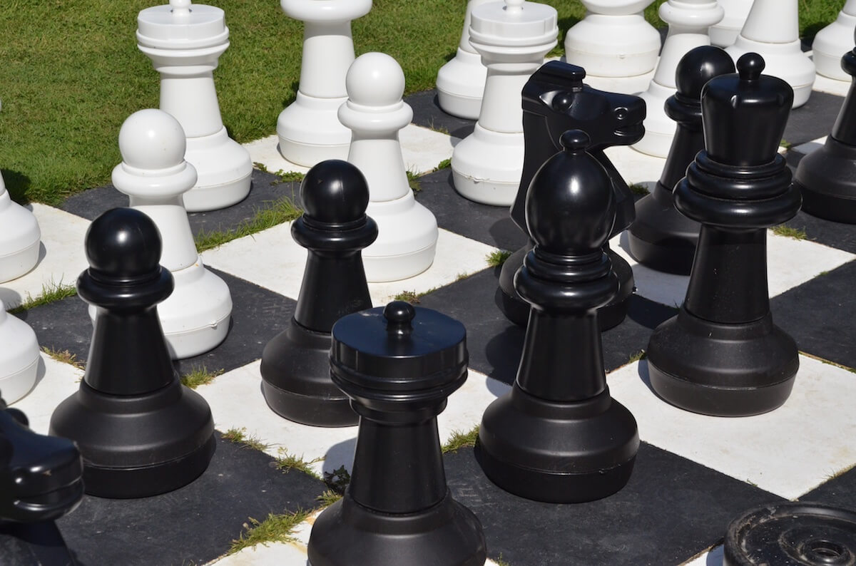Giant Outdoor Chess, Luccombe Hall Hotel, Isle of Wight