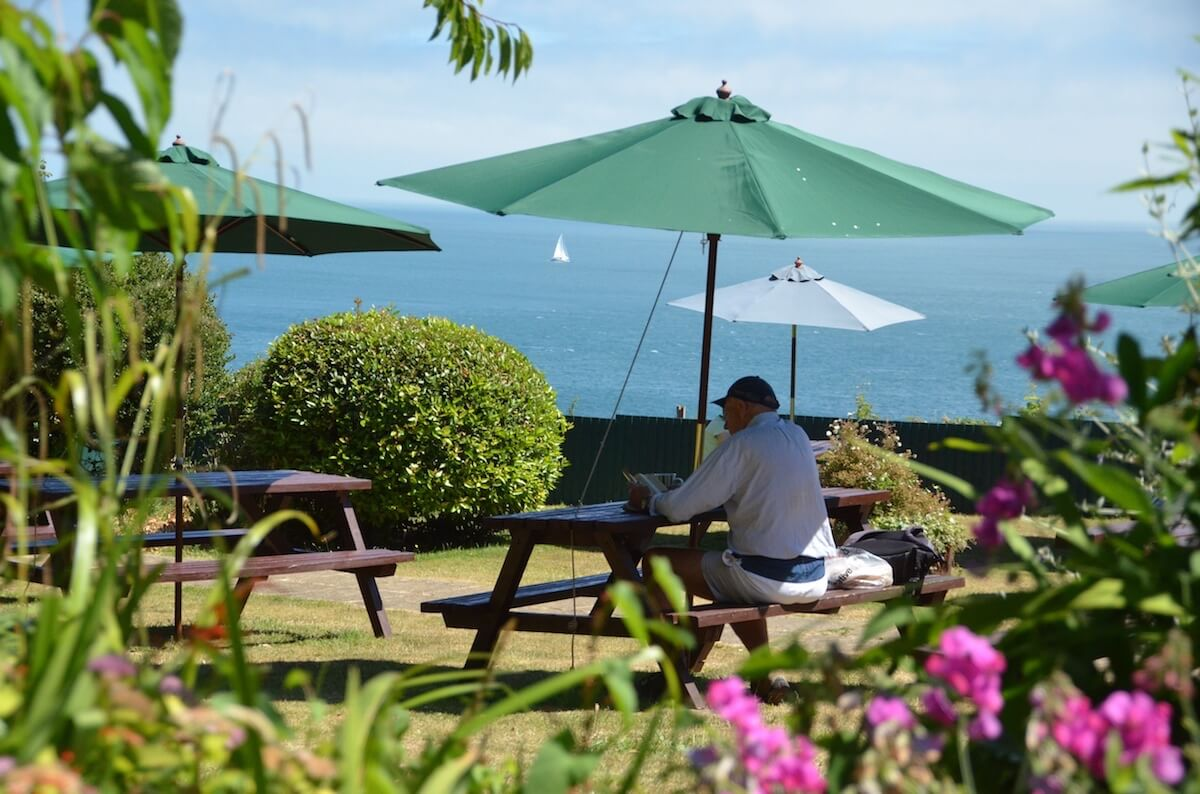 Grand View Tea Garden, Luccombe Hall Hotel, Isle of Wight