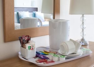 Hospitality Tray, Hotel Rooms, Luccombe Hall, Isle of Wight