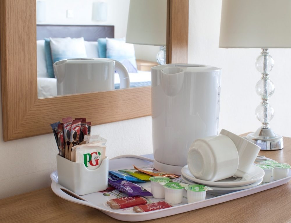 Hospitality Tray, Hotel Rooms