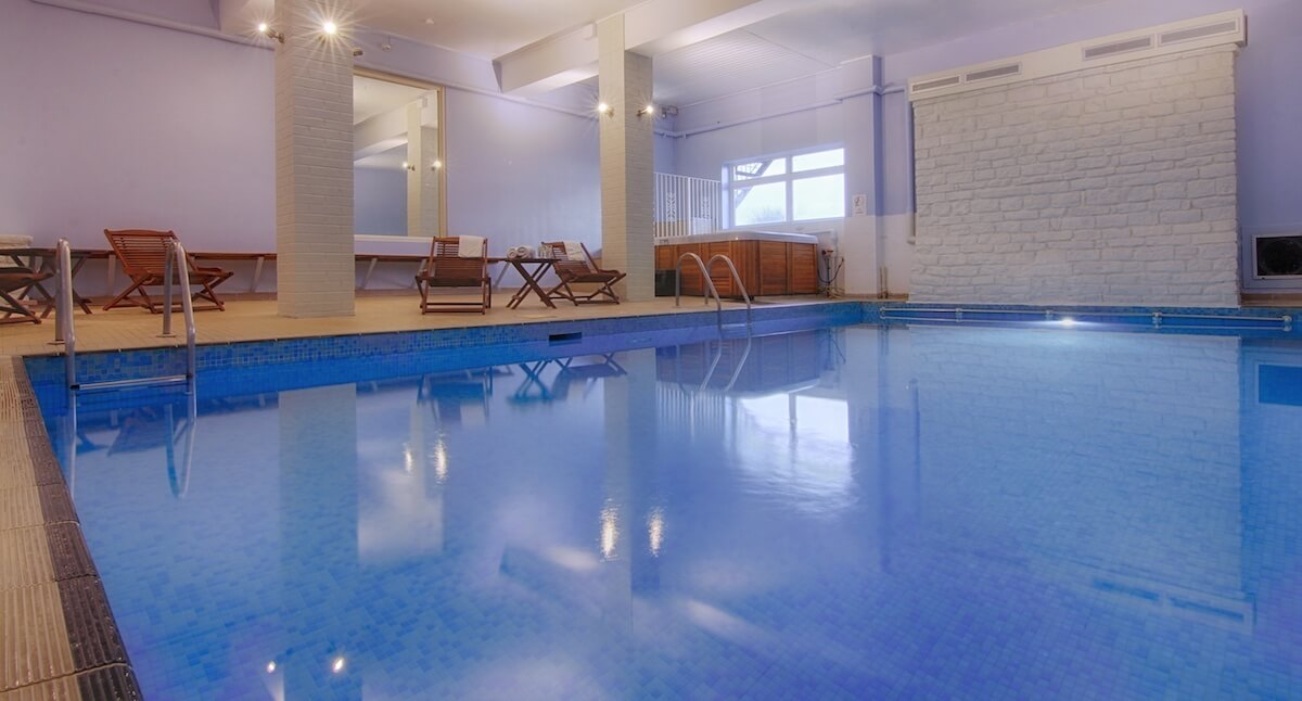 Indoor Pool & Loungers, Luccombe hall Hotel, Isle of Wight