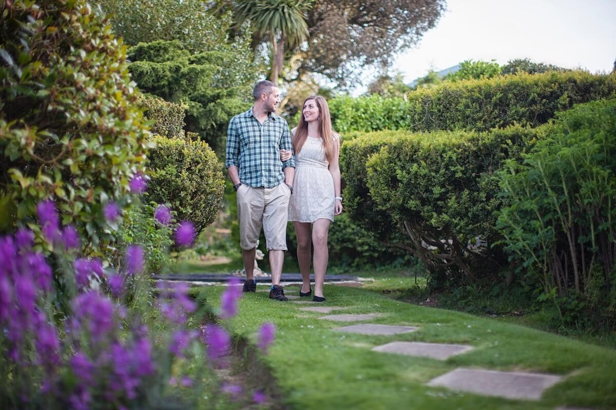 Strolling through the Beautiful Gardens, Luccombe Hall Hotel, Isle of Wight