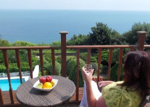Executive Room Balcony, Luccombe Hall Hotel, Isle of Wight