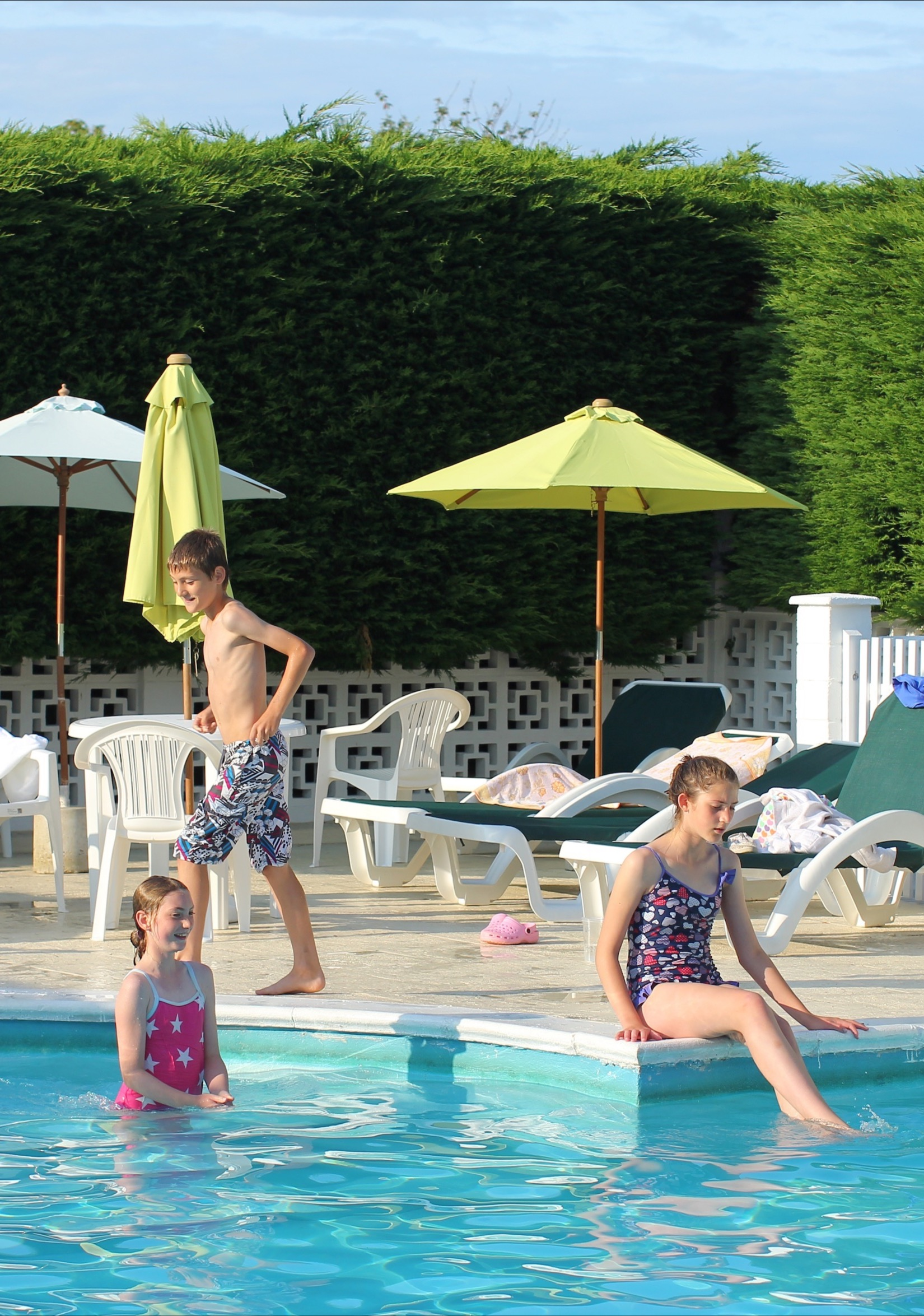 Kids Play in the Pool, Luccombe Hall Hotel