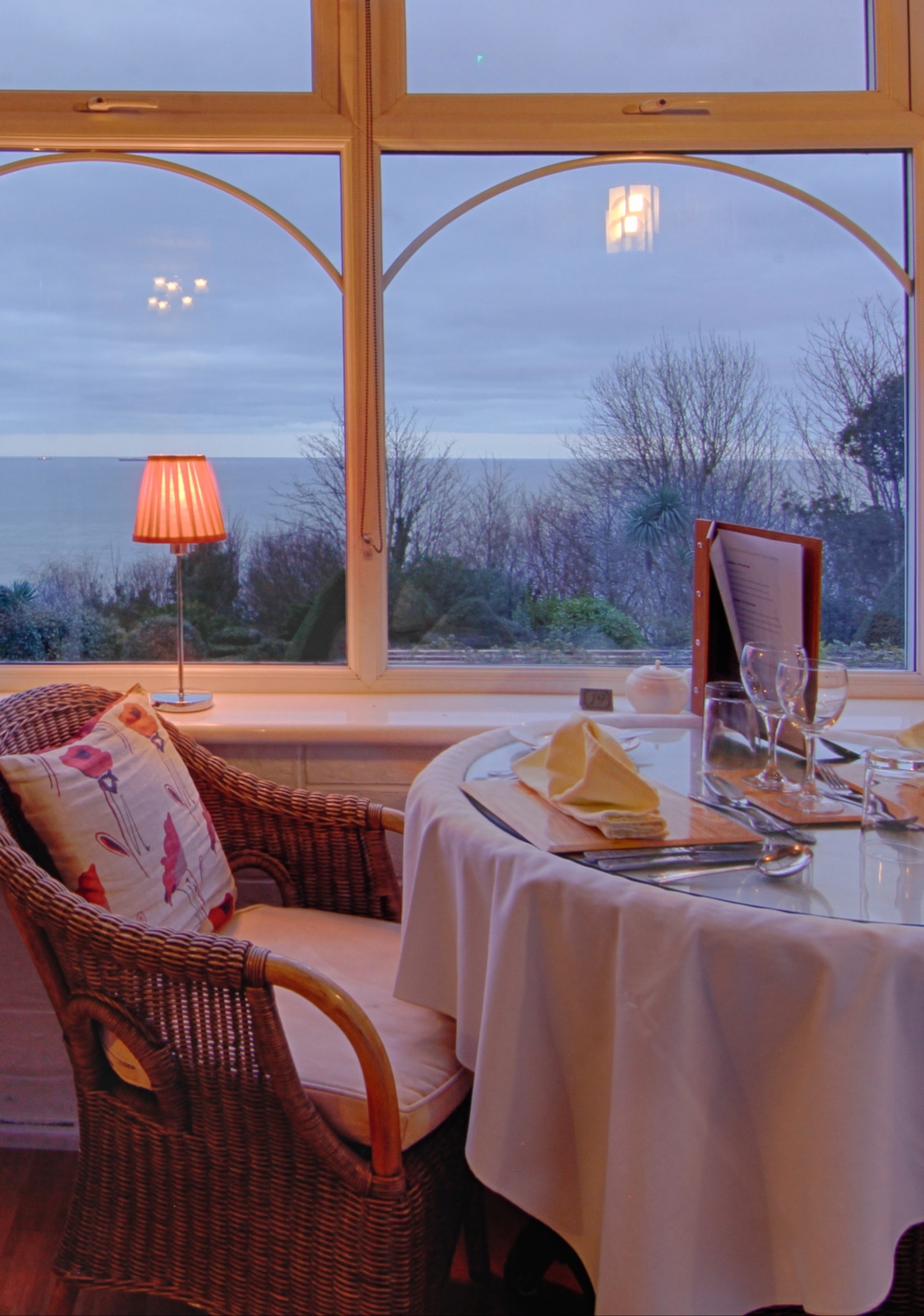 Luccombe Hall Hotel Grand View Restaurant Conservatory