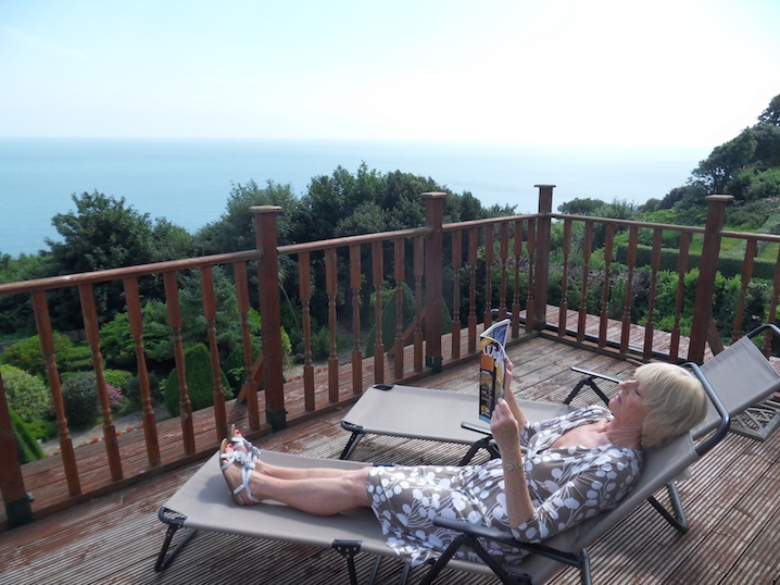 Large Balcony in the Executive Rooms at Luccombe Hall Hotel, Isle of Wight