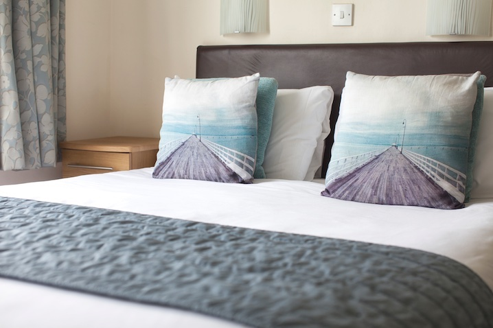 Sea-Facing Bedroom at Luccombe Hall Hotel, Shanklin, Isle of Wight