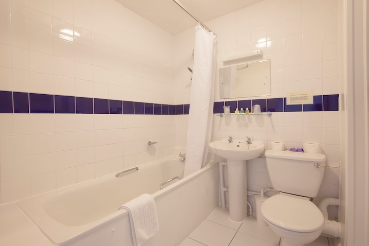 En-Suite Bathroom to Sea-facing Rooms at Luccombe Hall Hotel, Shanklin, Isle of Wight