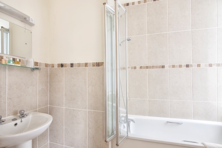 Standard En-Suite Bathroom at Luccombe Hall Hotel, Shanklin, Isle of Wight