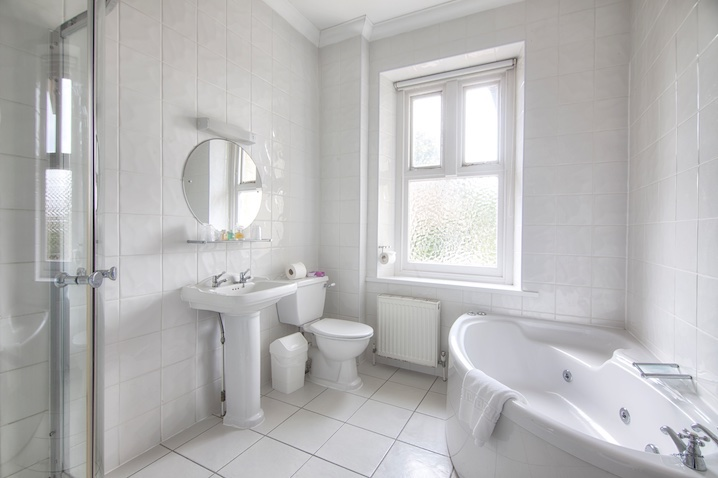 En-Suite Bathroom Family Accommodation at Luccombe Hall Hotel, Shanklin, Isle of Wight