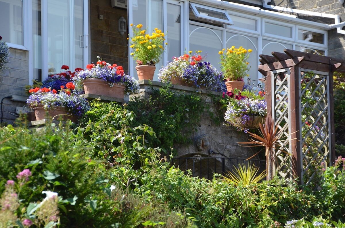 Flower Entrance Luccombe hall Hotel, Isle of Wight
