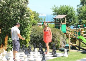 Giant Chess, Luccombe Hall Hotel, Isle of Wight