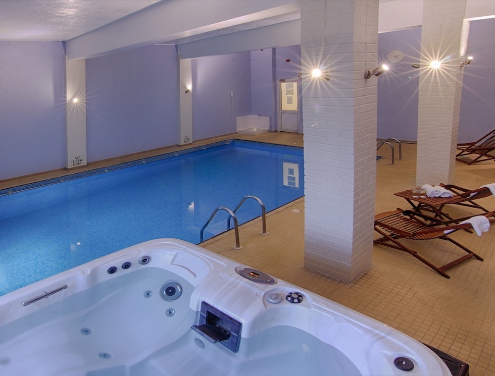 Indoor Pool and Hot Tub for Relaxation at Luccombe Hall Hotel, Isle of Wight