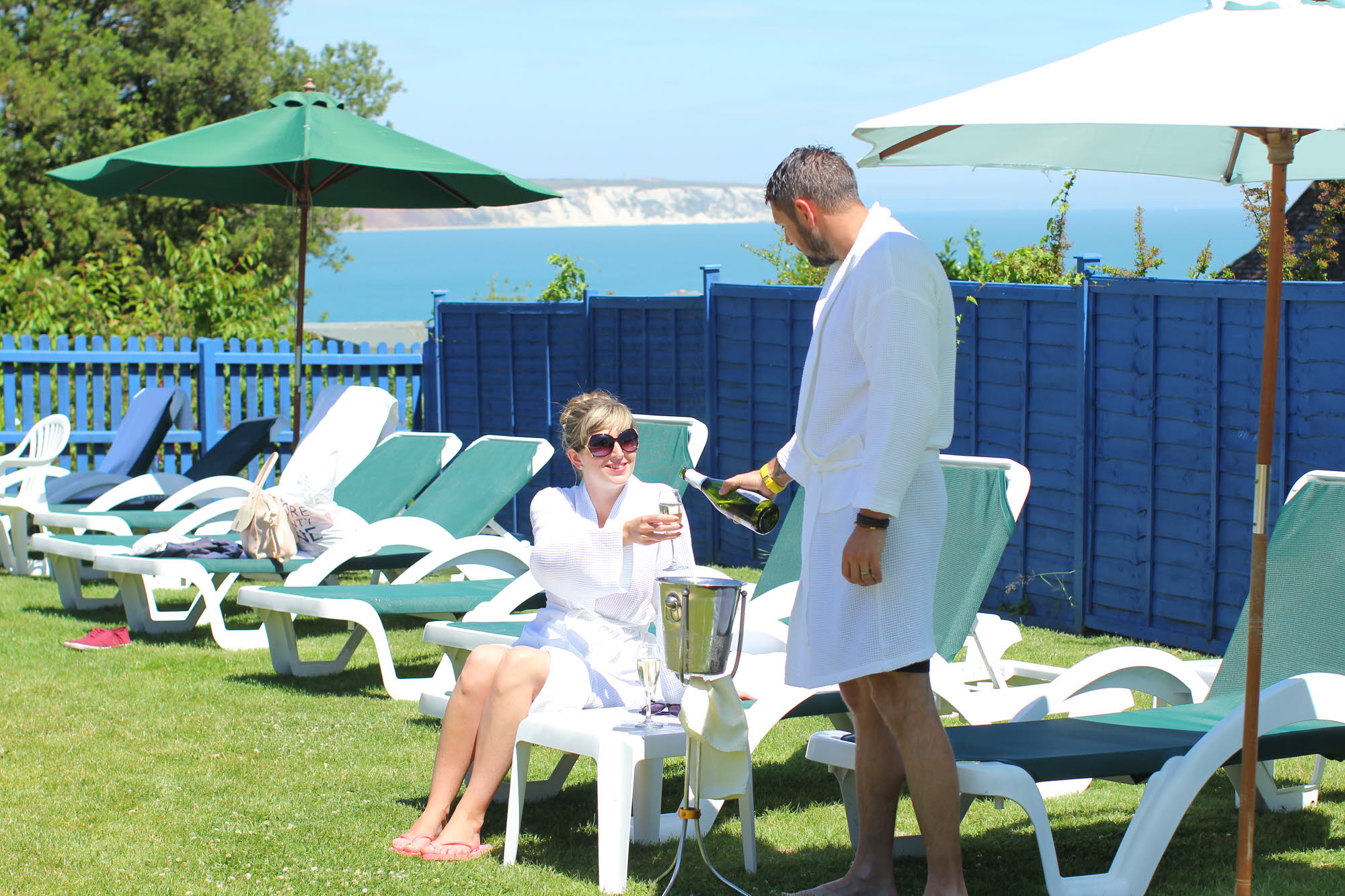 Garden Relaxation with Champagne at Luccombe Hall Hotel, Isle of Wight