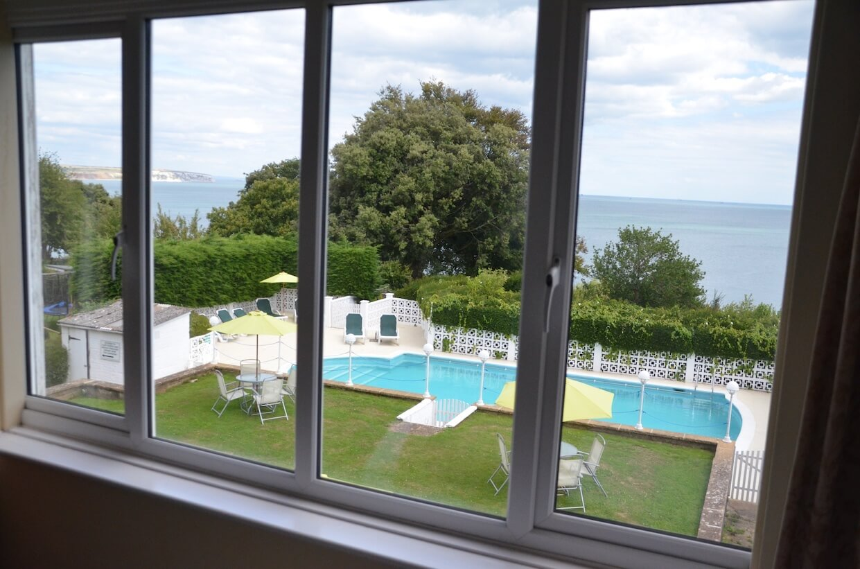 Sea-Facing Bedrooms with Views, Luccombe Hall Hotel, Isle of Wight