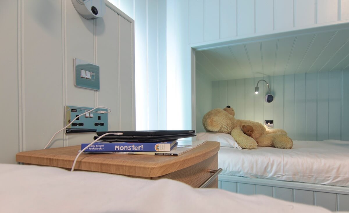 Adjustable Lighting By Each Bed in the Superior Sea-Facing Rooms, Luccombe Hall Hotel