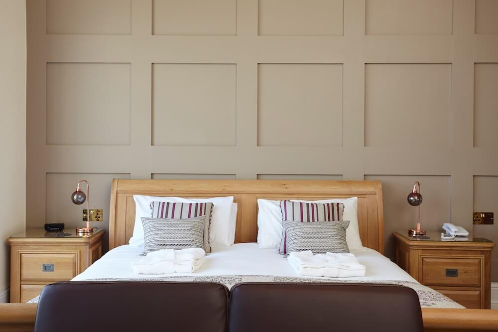 Super King Size Double Bed, Executive Suite Room 2, Luccombe Hall Hotel, Isle of Wight