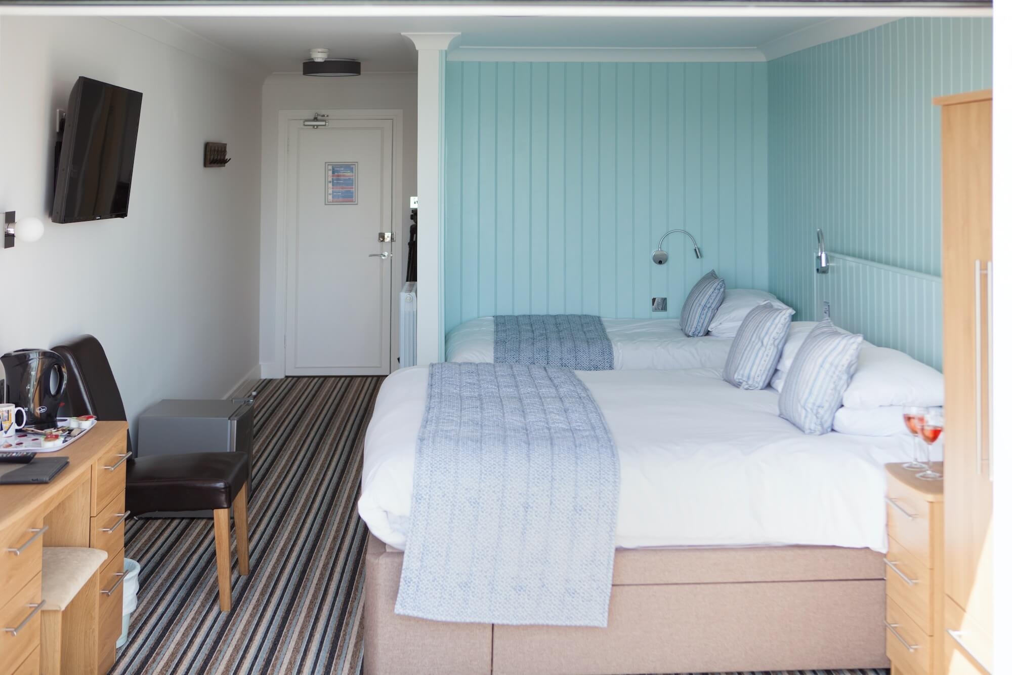 Superior Balcony Sea-Facing Room with Single Bed, Luccombe Hall Hotel, Isle of Wight